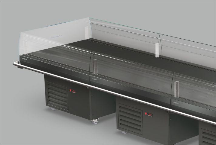 elektroniczny regulator w regale chłodniczym