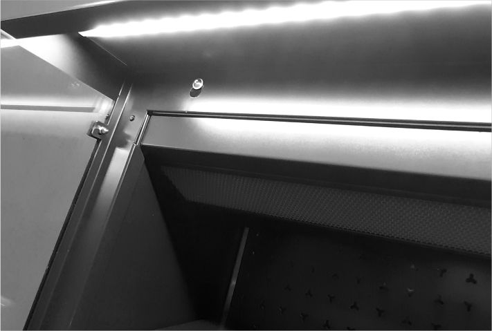 energy-saving LED lighting refrigerated multideck