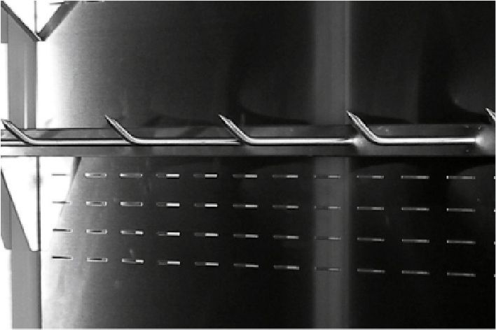 """crossbars with """"spitz"""" type hooks. in multideck refrigerated displays"""