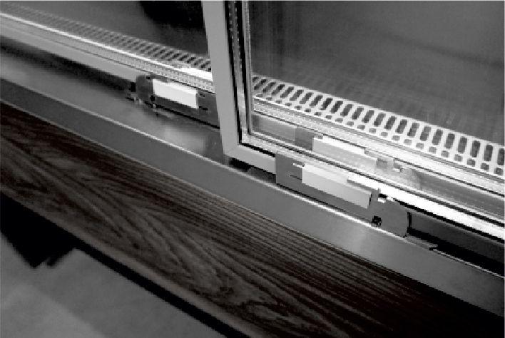 glazed sliding door  in multideck refrigerated displays