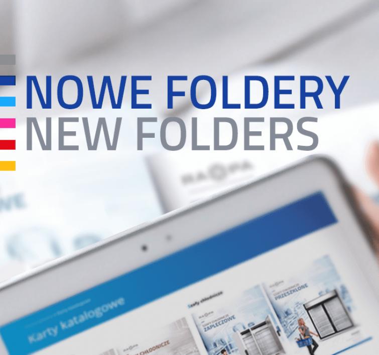 Baner z nowymi folderami urządzeń chłodniczych
