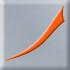 srebrnoszary z pomarańczowym dekorem (E)